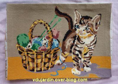 Un sac chat pour Dalienor, 2, broderie nettoyée