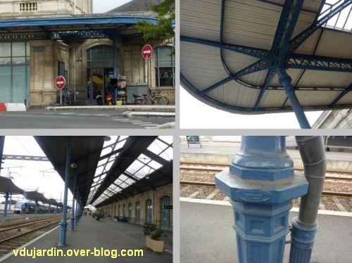Niort, la gare et son architecture métallique (marquises, poteaux)