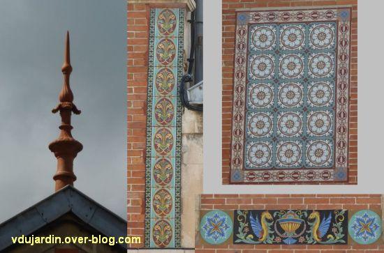 Niort, l'hôtel des ventes, 4, détail du décor de la façade