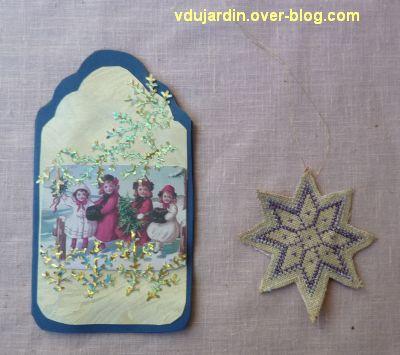 Noël 2012 par Dianou, carte et étoile brodée