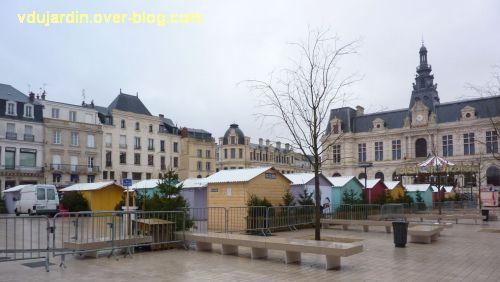 Poitiers, 1er janvier 2013, marché de noël déserté