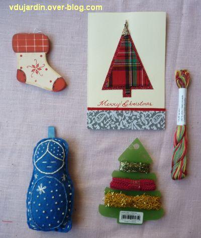 Noël 2012 par Flo, 1, carte, botte, pendouille, fil, ruban