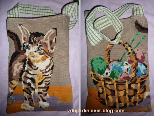Un sac chat pour Dalienor, 3, après couture