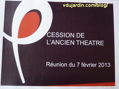Affiche de la réunion sur la cession du théâtre de Poitiers, 7 février 2013