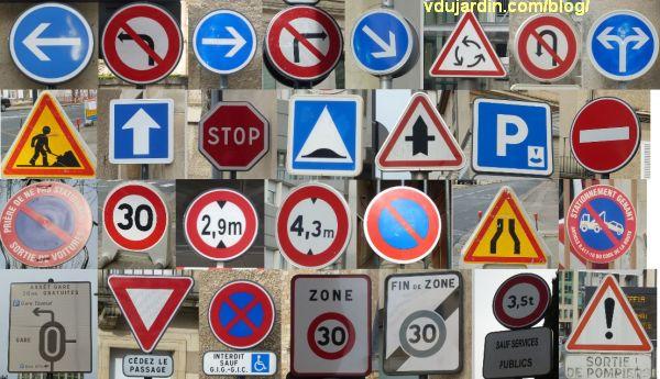Panneaux routiers obligations et interdictions