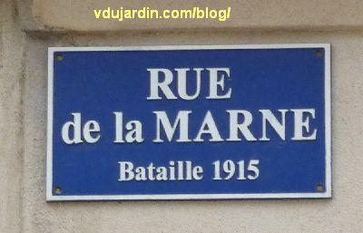 Poitiers, plaque erronée de la rue de la Marne