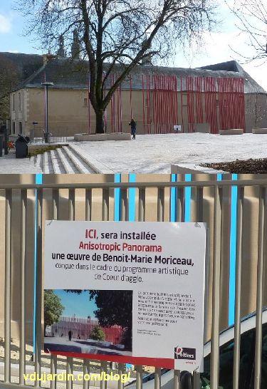 Poitiers, février 2013, oeuvre d'art square de la République