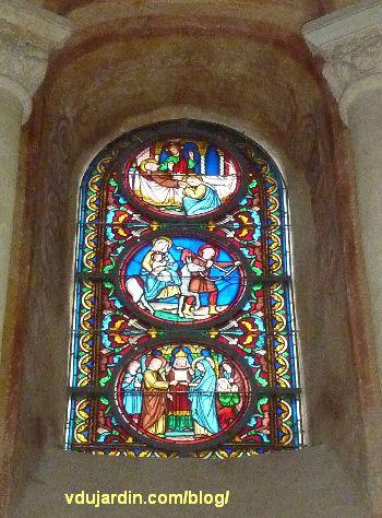 Poitiers, vitrail de l'église Saint-Hilaire, histoire de Joseph