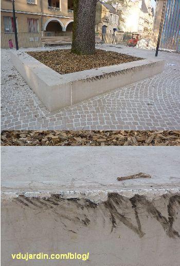 Poitiers, square de la République, avril 2013, effet du skate park sauvage
