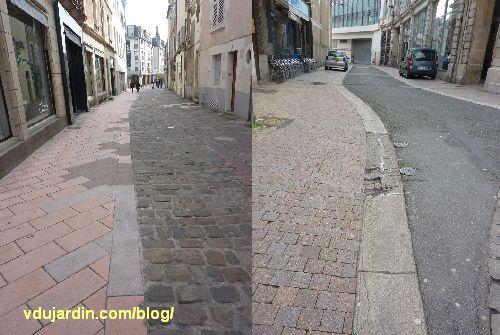 Poitiers, avril 2013, état déplorable des rues piétonnes