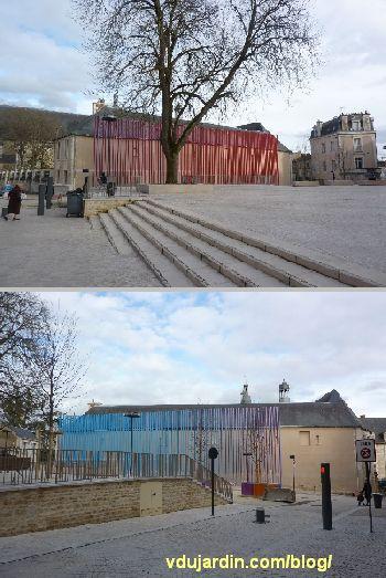 Poitiers, square de la République, avril 2013, oeuvre en place