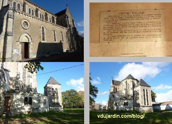 Poitiers, église Sainte-Thérèse, trois vues et dédicace