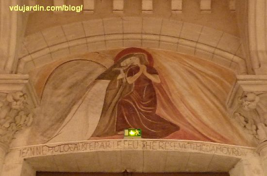 Poitiers, église Sainte-Thérèse, siantes Jeanne-d'Arc et Thérèse, de Marie Baranger
