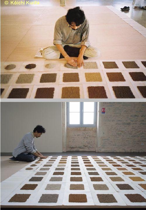Kôichi Kurita, installation des terres de Poitou-Charentes au musée de l'île d'Oléron