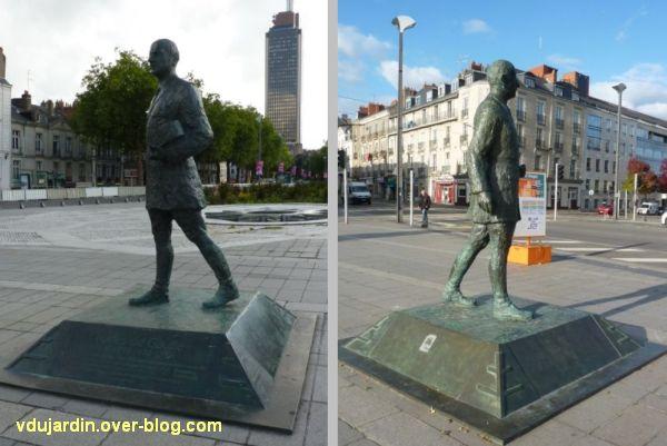 Nantes, monument à De Gaulle, deux vues