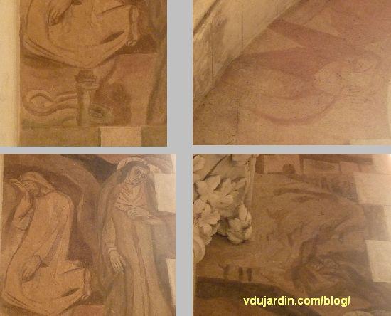 Chemin de croix de Sainte-Thérèse de Poitiers par Marie Baranger, fenêtre 1, à gauche, introduction