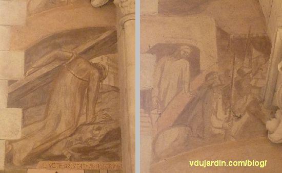 Chemin de croix de Sainte-Thérèse de Poitiers par Marie Baranger, fenêtre 2, à droite, station 3