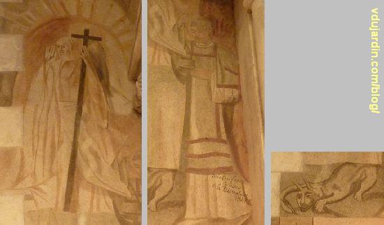 Chemin de croix de Sainte-Thérèse de Poitiers par Marie Baranger, fenêtre 8, à droite, le Christ ressuscité