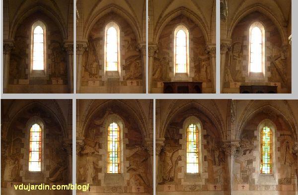 Chemin de croix de Sainte-Thérèse de Poitiers par Marie Baranger, les huit fenêtres