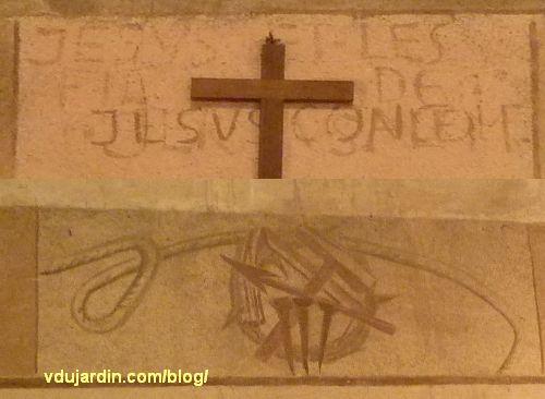 Chemin de croix de Sainte-Thérèse de Poitiers par Marie Baranger, texte de la station 7 et instruments de la passion