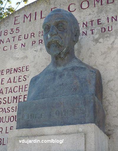 Pons, monument à Emile Combe par Paul Landowski, le buste