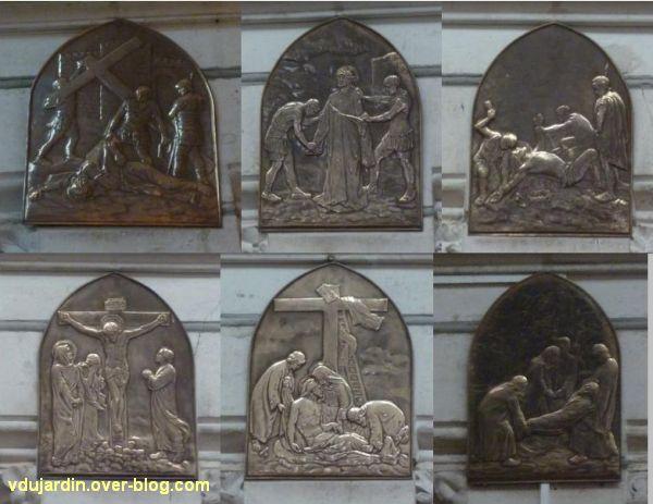 Niort, le chemin de croix de l'église Saint-Etienne-du-Port, 3, les stations 9 à 14