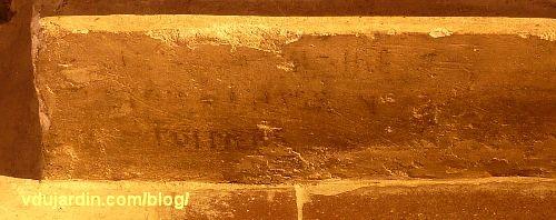 Poitiers, église Sainte-Thérèse, autel nord des ateliers de Saint-Hilaire, signature