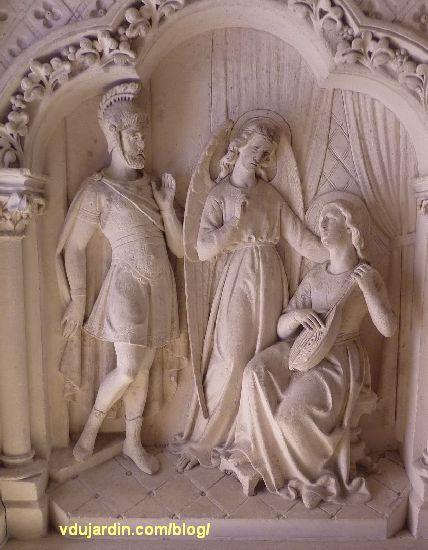 Poitiers, église Sainte-Thérèse, autel nord des ateliers de Saint-Hilaire, panneau gauche