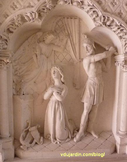 Poitiers, église Sainte-Thérèse, autel nord des ateliers de Saint-Hilaire, panneau central