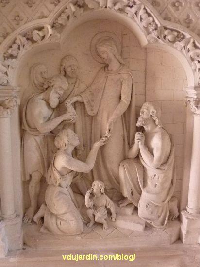 Poitiers, église Sainte-Thérèse, autel nord des ateliers de Saint-Hilaire, panneau droit