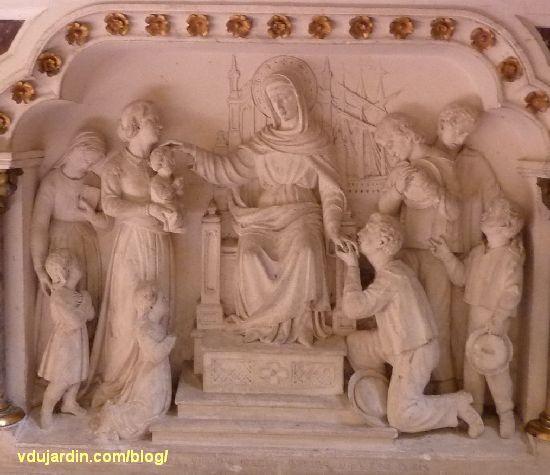 Poitiers, église Sainte-Thérèse, autel sud des ateliers de Saint-Hilaire, panneau central