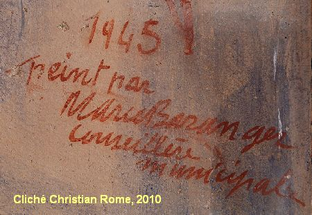 Mairie de Montreuil-Bonnin, signature de Marie Baranger