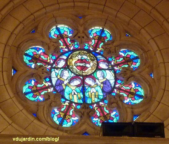 Poitiers, église Sainte-Thérèse, rosace ouest