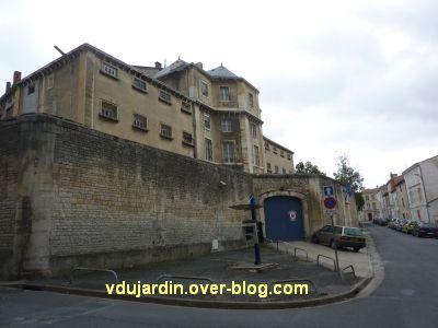 Niort, la prison, 1, la façade côté Sèvre