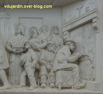 Niort, le relief de Sauquet-Javelot par Pairault et Bouneault, 8, la partie droite du relief