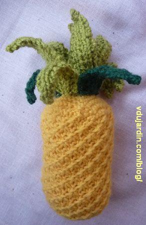 L'ananas au tricot assemblé