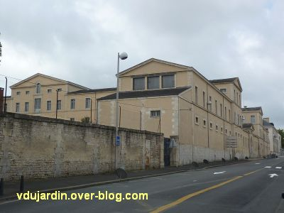 Niort, le collège Fontanes, 2, vue de la rue du 14 juillet