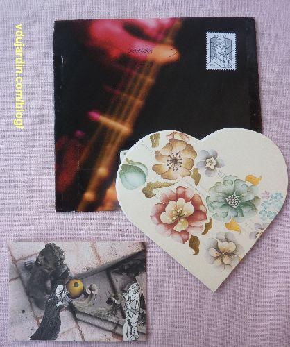 Envoi de Dalinele pour Noël 2013, enveloppe, carte et ATC