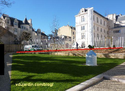 Jardin du Puygarreau à Poitiers, pente trop élevée de l'accès handicap