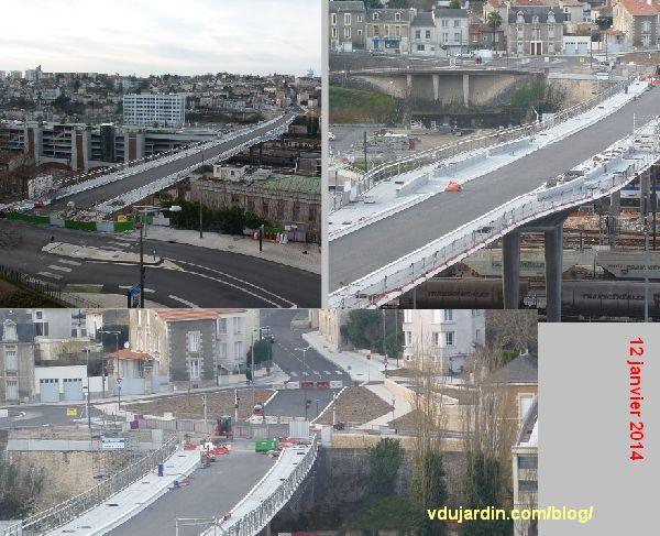 Le viaduc des Rocs à Poitiers, 12 janvier 2014