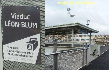Viaduc des Rocs à Poitiers, vidéo verbalisation, panneau et dispositif