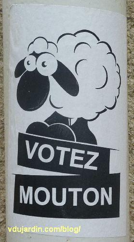 Un mouton à Poitiers, Votez mouton