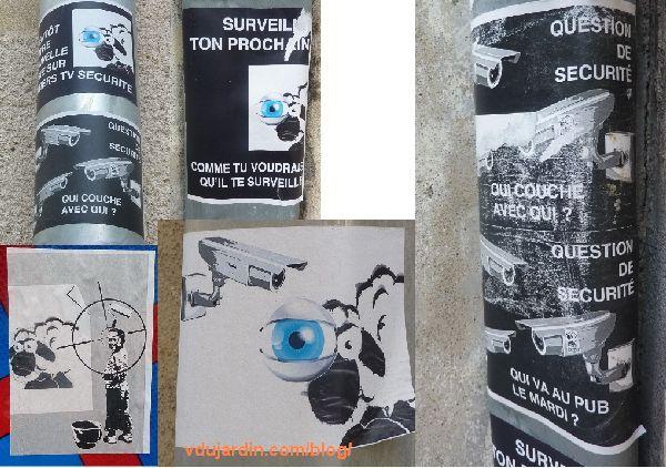 Des moutons sur des gouttières à Poitiers, contre la vidéosurveillance