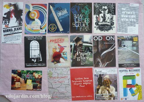 Carte à publicités envoyées par Capucine en avril 2014