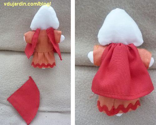 Le petit chaperon rouge, la robe et la cape
