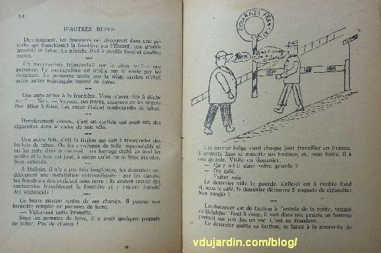 revue Enfantines, n° 67, halte à la Douane à Mouchin, pages 14 et 15