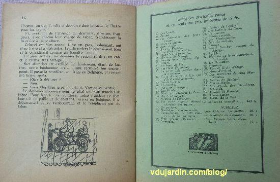 revue Enfantines, n° 67, halte à la Douane à Mouchin, pages 16 et dernière de couverture