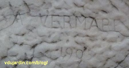 Le Rhône et la Saône de Vermare devant la bourse de Lyon, signature d'André Vermare
