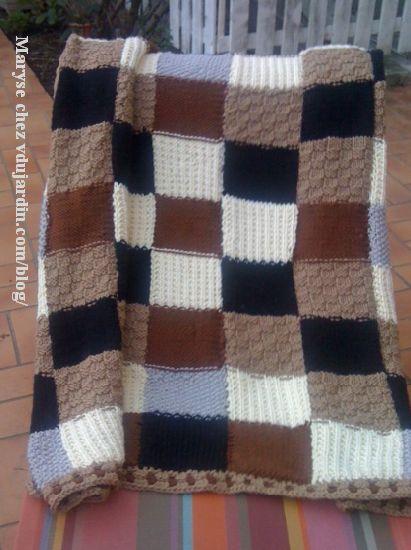 tricoter un plaid. Black Bedroom Furniture Sets. Home Design Ideas