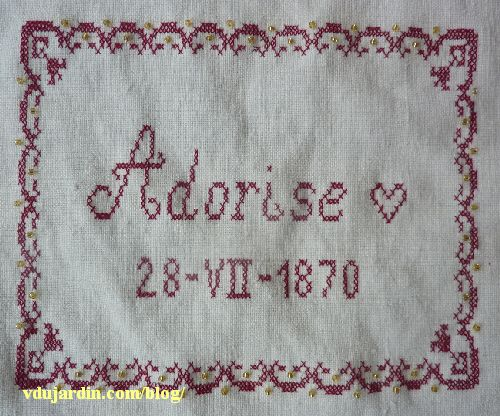 Nans 2014, étape 11, date de naissance d'Adorise et cadre